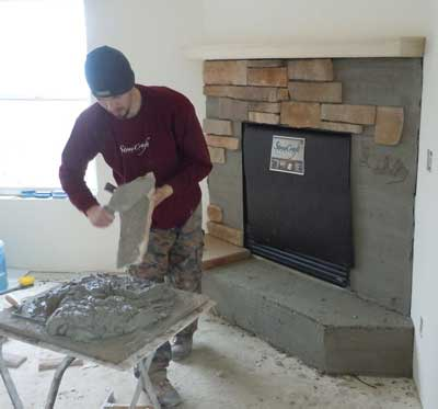Learn How To Install Stone Veneer On Walls Fireplace More
