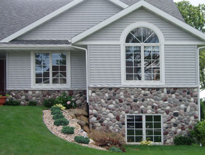 Wisconsin River Rock Manufactured Stone For Walls Cast